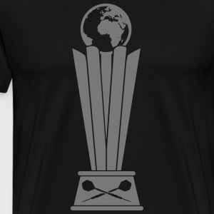 Darts World Championship Trophy T-shirts - Herre premium T-shirt
