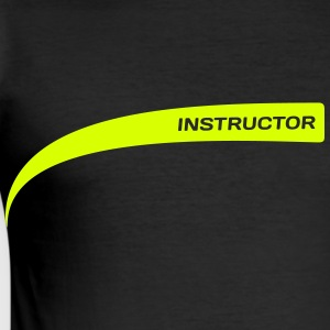 Drill Instructor / Personal Trainer [neon gelb] - Männer Slim Fit T-Shirt