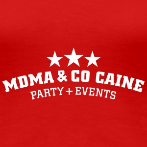 MDMA and Co Caine T-shirts - Vrouwen Premium T-shirt