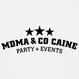 MDMA and Co Caine T-shirts - Mannen T-shirt