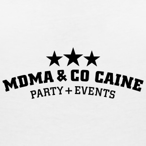 MDMA and Co Caine T-Shirts - Women's V-Neck T-Shirt