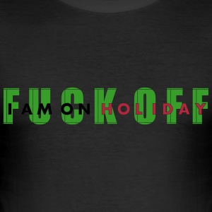 fuck off_vec_3 de T-Shirts - Männer Slim Fit T-Shirt
