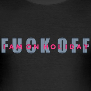 fuck off_vec_3 en T-Shirts - Men's Slim Fit T-Shirt