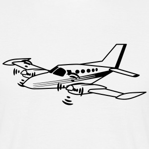 Planet sports flygplan propeller T-shirts - T-shirt herr