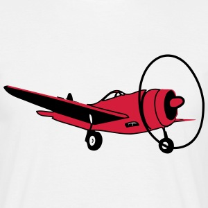 Oldie aircraft flying propeller T-Shirts - Men's T-Shirt