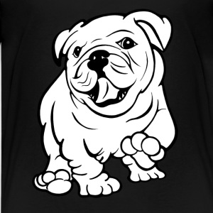 Happy Bull Dog Puppy Tshirt - Teenage Premium T-Shirt