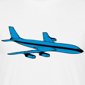 Travel airplane flying airliner holidays T-Shirts - Men's T-Shirt