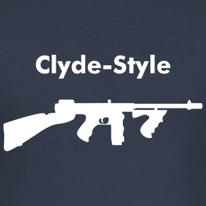 Clyde-Style - Männer Slim Fit T-Shirt