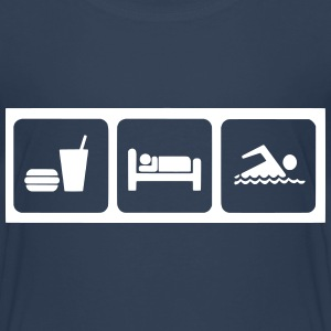 eat_sleep_schwimmen T-Shirts - Kinder Premium T-Shirt