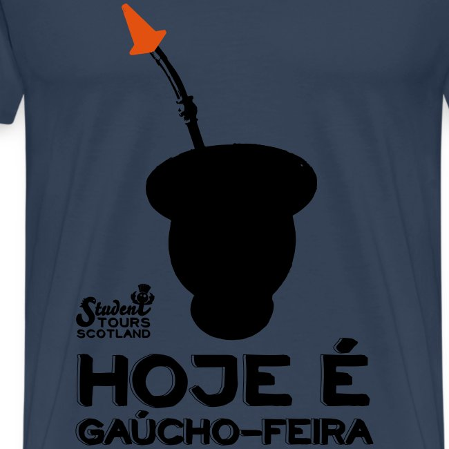 Brazil: Hoje é Gaúcho Feira (Chimarrão) BLACK PRINT