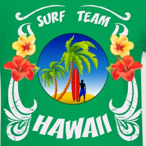 hawaii surf  team Tee shirts - T-shirt contraste Homme