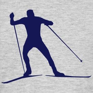 cross country skiing - skiing - ski T-skjorter - T-skjorte for menn