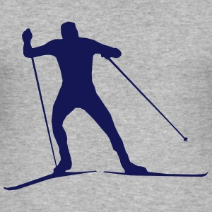 cross country skiing - skiing - ski T-Shirts - Men's Slim Fit T-Shirt