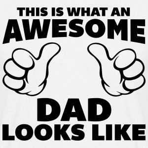 Awesome Dad Looks Like T-shirts - Mannen T-shirt