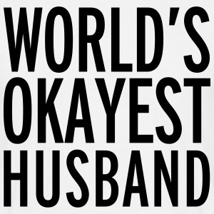World's Okayest Husband  T-skjorter - T-skjorte for menn