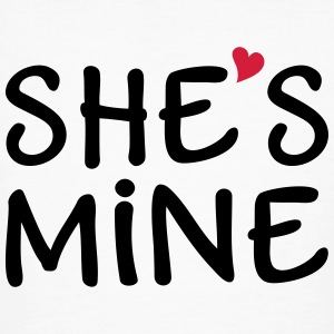 She's Mine I love you my Girlfriend Je t'aime Tee shirts - T-shirt bio Homme
