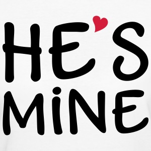 He's Mine I love you my Boyfriend Päarchen Lover  - Frauen Bio-T-Shirt