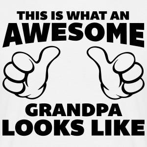 Awesome Grandpa Looks Like Tee shirts - T-shirt Homme