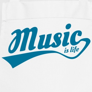 music is life Delantales - Delantal de cocina
