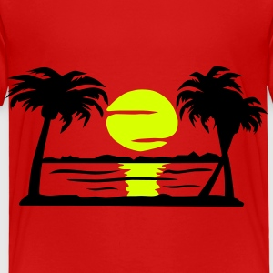 Summer Dream - beach, sun, palm trees - Kids' Premium T-Shirt