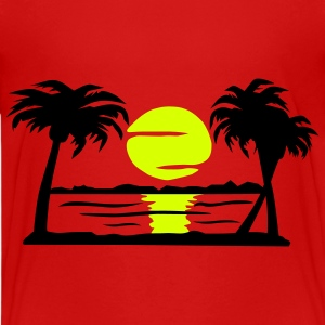 Summer Dream- zomer, zon, strand, palmbomen - Teenager Premium T-shirt