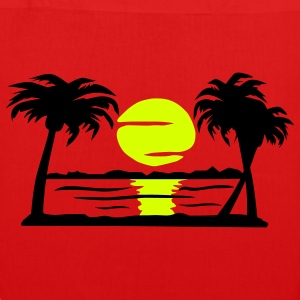 Summer Dream - beach, sun, palm trees - EarthPositive Tote Bag