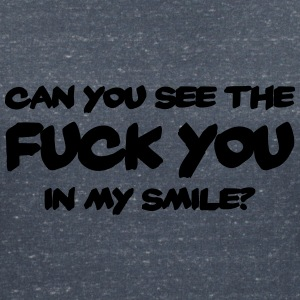 Can you see the FUCK YOU in my smile? T-Shirts - Frauen T-Shirt mit V-Ausschnitt