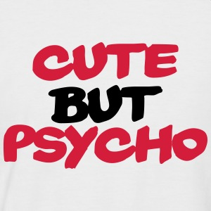 Cute but Psycho Tee shirts - T-shirt baseball manches courtes Homme