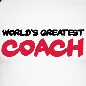 World's greatest Coach Skjorter med lange armer - Langermet baseball-skjorte for menn