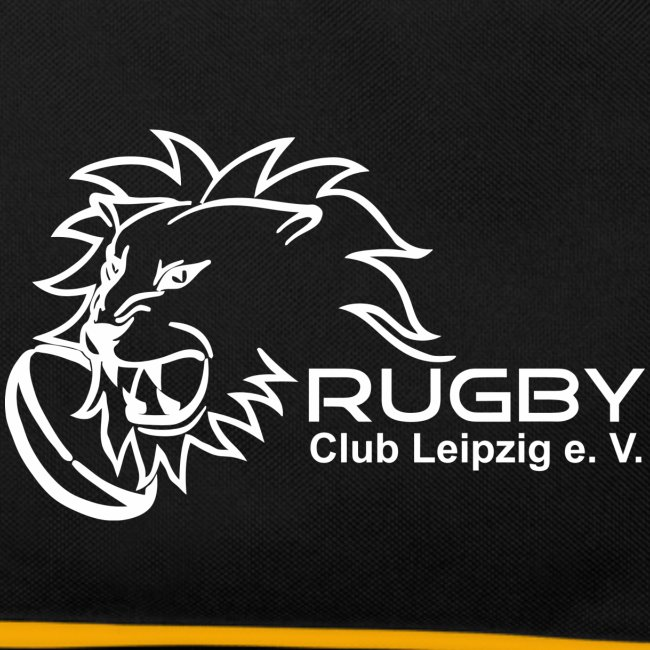 c52d2d83f798c Tragetasche schwarz mit weißem Rugby Club Leipzig Logo