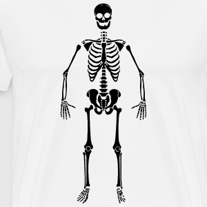 Skeleton T-skjorter - Premium T-skjorte for menn