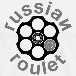 Russian Roulette T-shirts - Herre premium T-shirt