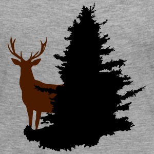 deer and tree - Women's Premium Longsleeve Shirt