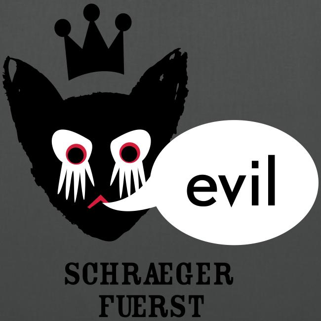 stoffbeutel, evil kater