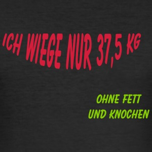 37,5 kg T-Shirts - Männer Slim Fit T-Shirt