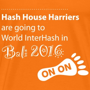 HASH HOUSE HARRIERS - Interhash Bali 2016 Haberdas - Männer Premium T-Shirt