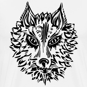 Wolf, symbol of loyalty and strength, Animal Totem T-shirts - Herre premium T-shirt
