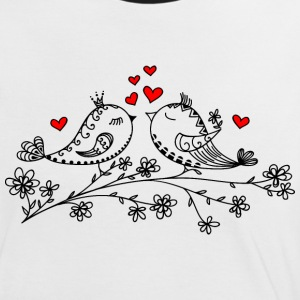 Birdie Love, Heart, Bird, Valentines Day T-Shirts - Women's Ringer T-Shirt