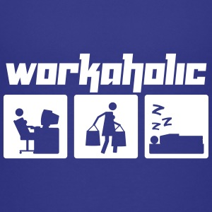 Workaholic (Vektor) - Teenage Premium T-Shirt