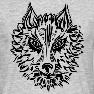 Wolf, symbol of loyalty and strength, Animal Totem T-shirts - T-shirt herr