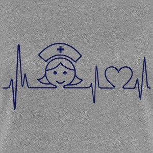 Heartbeat - Nurse - Frauen Premium T-Shirt