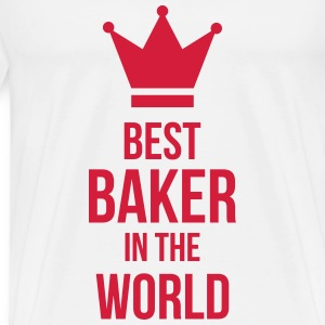 Best Baker in the World T-shirts - Herre premium T-shirt