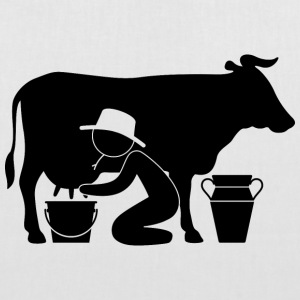 Farmer at milking a cow Bags & Backpacks - Tote Bag