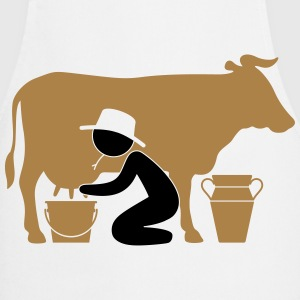 Farmer at milking a cow  Aprons - Cooking Apron