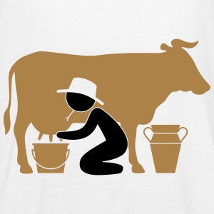 Farmer at milking a cow Tops - Women's Tank Top by Bella