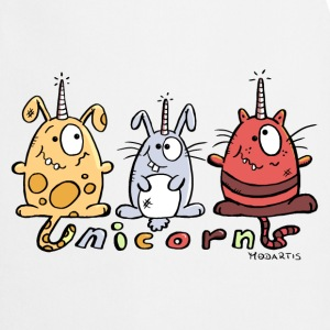 Three Funny Unicorns  Aprons - Cooking Apron