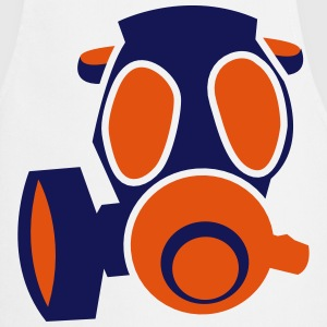 deadly orange biohazard gas mask  Aprons - Cooking Apron