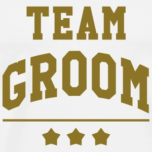Team Groom - Wedding T-shirts - Herre premium T-shirt