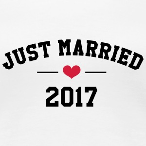 Just Married 2017 -  Wedding T-Shirts - Frauen Premium T-Shirt