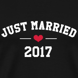 Just Married 2017 -  Wedding T-Shirts - Men's Premium T-Shirt